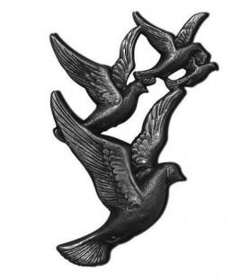 Vuelo de palomas bronce
