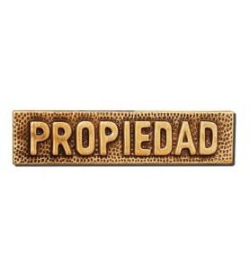 Placa propiedad bronce