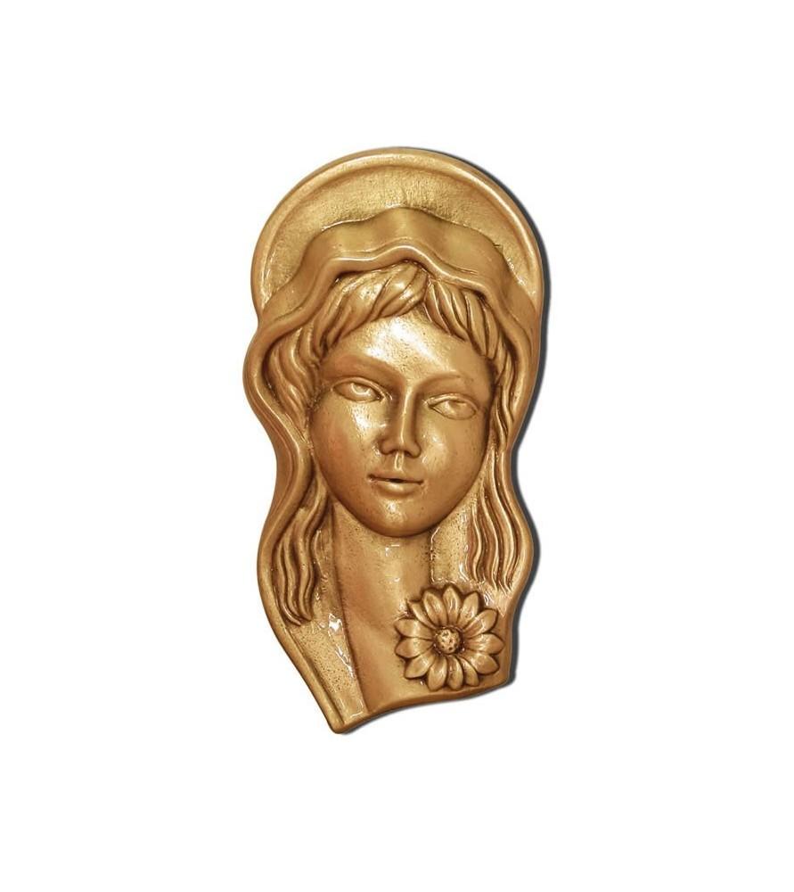 Virgen niña bronce pequeña