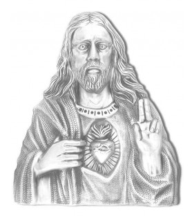 Sagrado corazon bronce