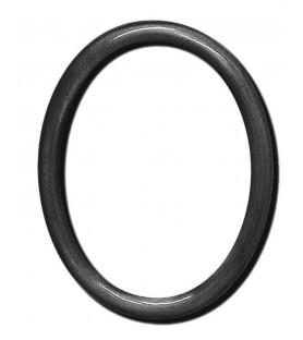 Portafoto bronce oval liso