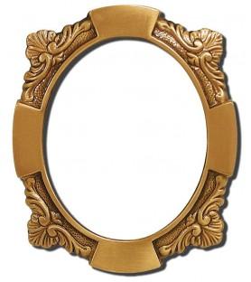 Portafoto bronce oval flor