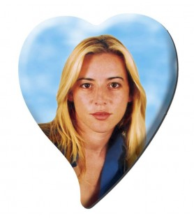 Porcelana, fotoceramica corazon