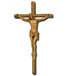 Cruz de tronco con cristo bronce