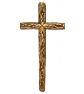 Cruz rustica bronce