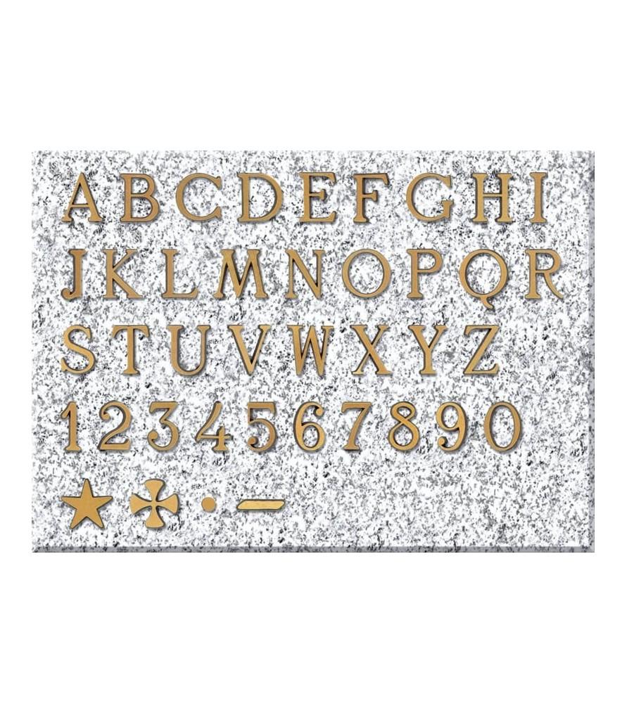 Letra romana de 5 cm