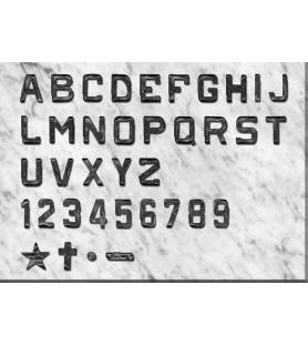 Letra rústica de 2.5 cm