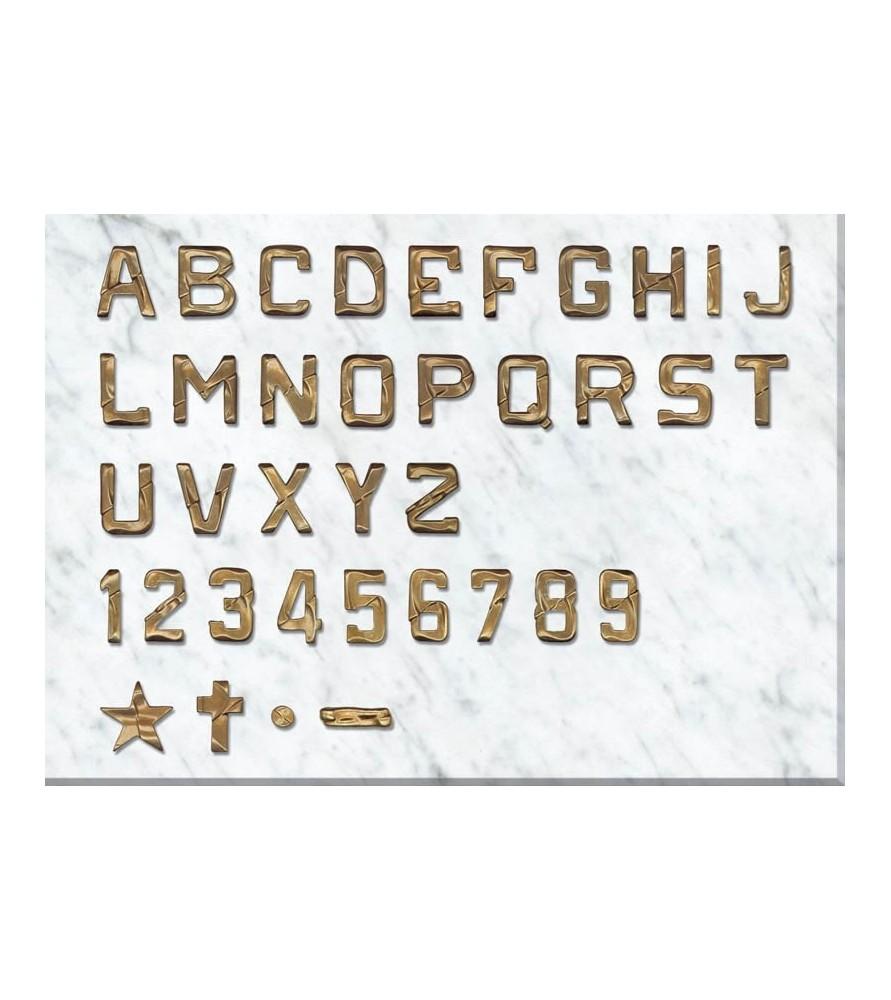 Letra rustica de 3 cm