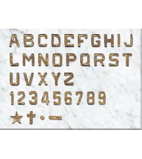 Letra rustica de 5 cm