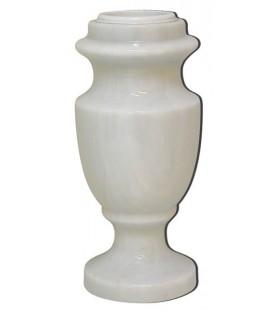 Jarrón de marmol blanco