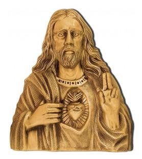 Sagrado corazon bronce A0217