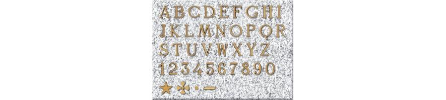 Letra romana bronce