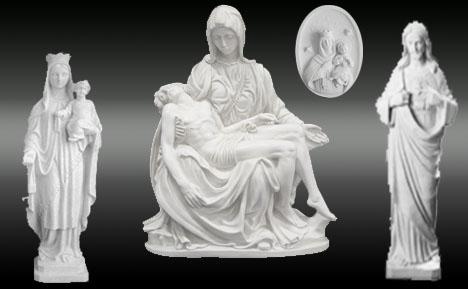 Figuras religiosas en marmolina